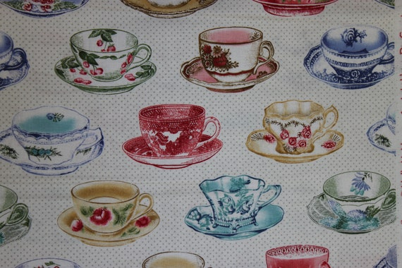 Penelope Cream Tea Cups  LH11059CRM Lakehouse Dry Goods French Fabric