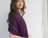 Purple Shawl  Mothers Day gift  UNDER 75USD For Her