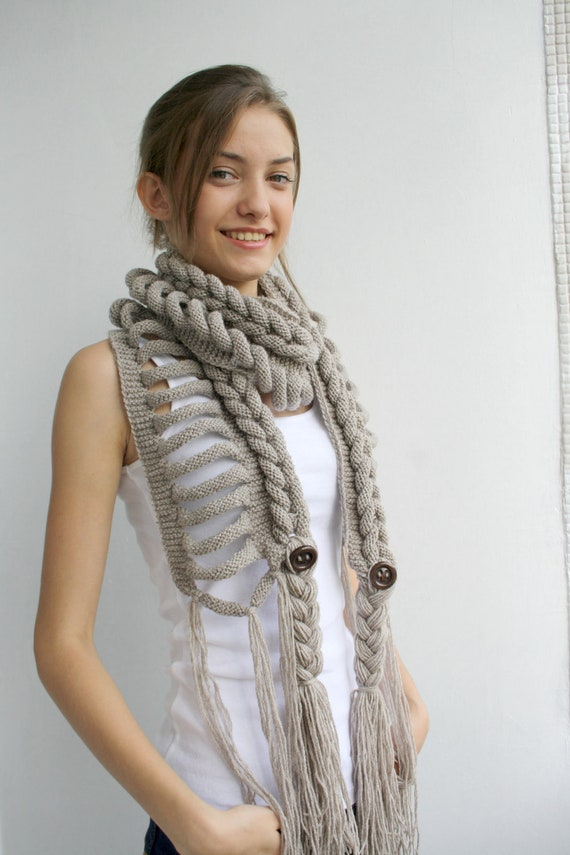 Milky Brown Wool  Scarf perfect Gift  For Women For Girl Friend Mothers Day Gift Under75