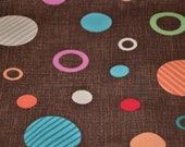 Car Seat Cooler Pad - Brown with Multicolor Circles - MADE TO ORDER