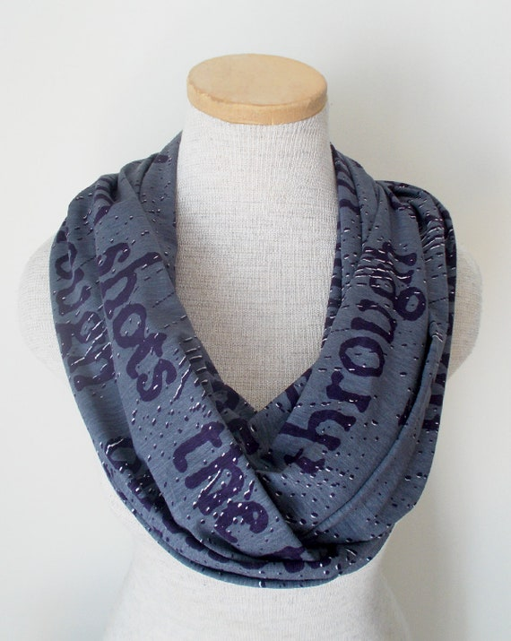 Library Text Infinity Scarf No.2