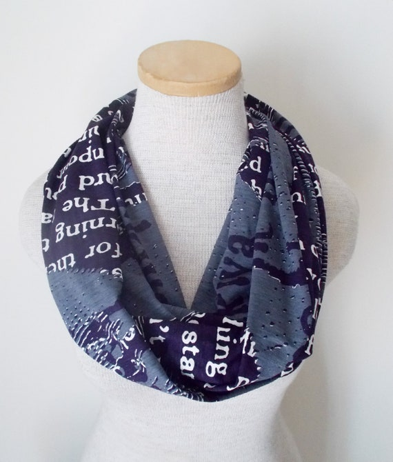Library Text Infinity Scarf No.3 - LAST ONE