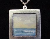 Original Miniature Tonalist Oil Painting Pendant Necklace