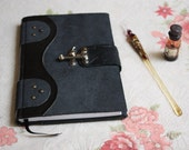 The Goth Book: Handbound in leather riveted with metal lock