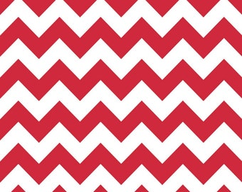 SALE - Riley Blake - Medium Chevron in Red