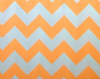 SALE - Riley Blake Medium Chevron in Neon Orange