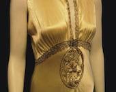 Art Deco Period Wedding Dress Bellasoiree Original Design Vintage Antique Silk Beaded and Fabulous On HOLD