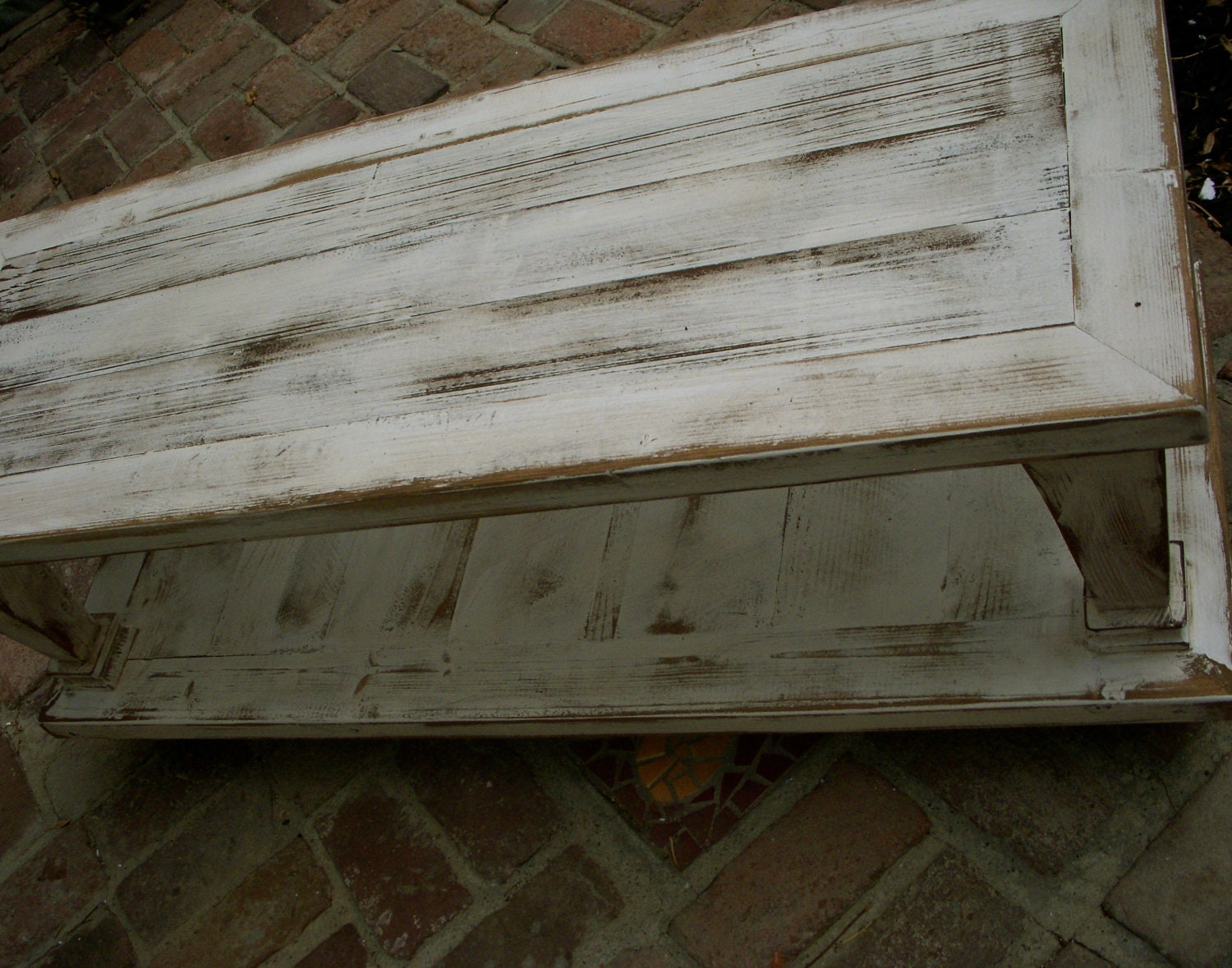living room furniture distressed coffee table wooden