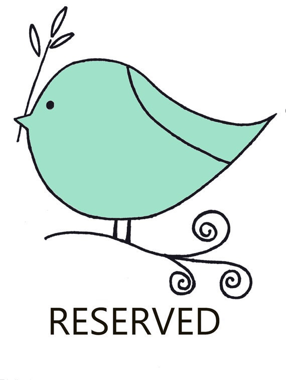 RESERVED BRIDAL ORDER for Carly