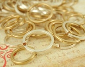 Sale - Sample Pack - Silver Plated and Gold Colored Square Wire Jump Rings - Quantity 50