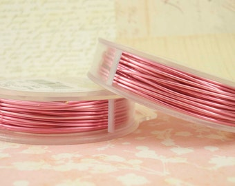 Rose Pink Artistic Wire - Permanently Colored - You Pick Gauge 18, 20, 22, 24, 26, 28 - 100% Guarantee