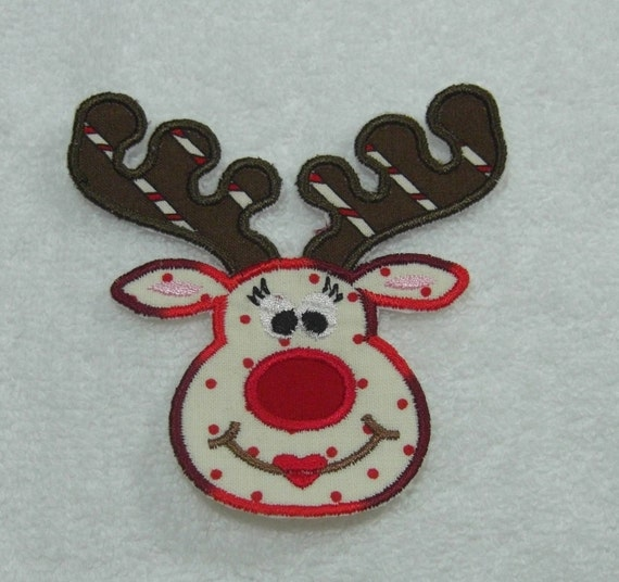 Girl Reindeer Girl Reindeer Face Fabric