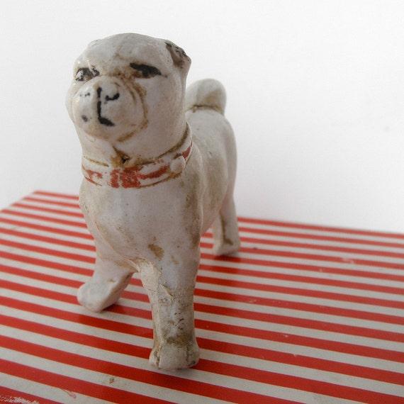 Vintage German Bisque Dog Figurine