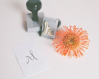 your initials // custom stamp