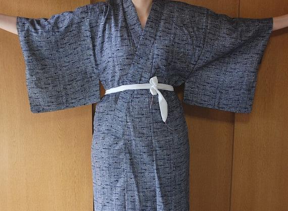 Yukata Kimono Robe In Tones Of Blue