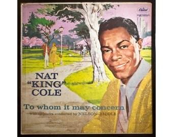 Glittered Nat King Cole Album