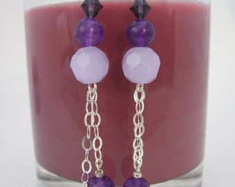 Violet Cascade Earrings