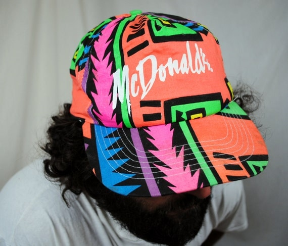 Awesome Neon 80s McDonalds Trucker Hat