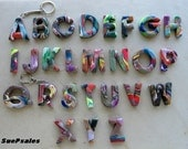 Buy 2 get one free, Alphabet letter charm, keychain, wine charms, pendant, letter, rearview mirror dangler, Christmas ornament, Polymer Clay