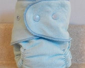 Fitted Large Cloth Diaper - 20 to 30 lbs- Basic Blue- Made to Order