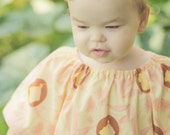 Peaches and Cream Cupcakery- Custom Made to Order Girls Peasant Dress - Sizes 6-9m, 12-18m, 2t, 3t, 4t