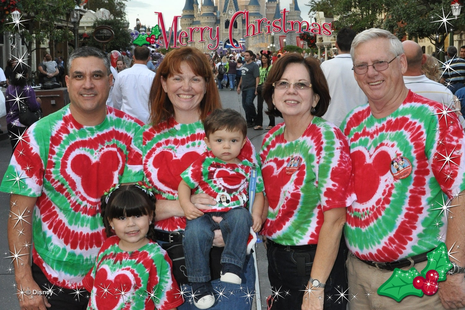 Christmas Tie Dye T Shirts For The Whole Family
