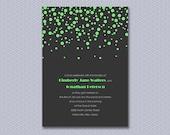Sparkling Confetti, a printable wedding invitation