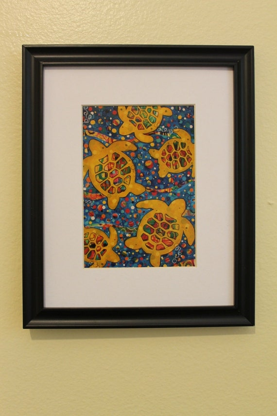 5x7 Sea Turtles high quality print of original art