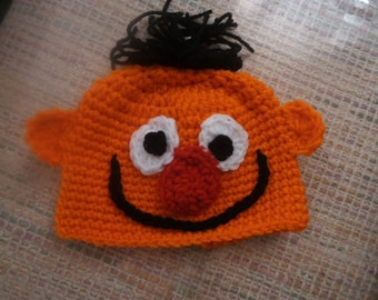 Baby or toddler resembles ernie hat   0-6mth to 18mth same price  Toddler sizes also available.