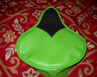 Bicycle Seat Upholstery Lime Green