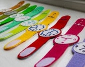 Four Number Ticky Tock - toddler's play watch - handmade