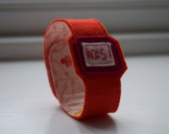 Orange Sherbet ticky tock for adults - handmade