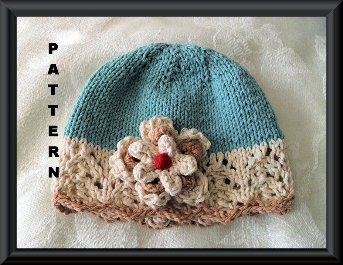 Baby Hat Pattern Knitted Hat Pattern Newborn Hat Pattern