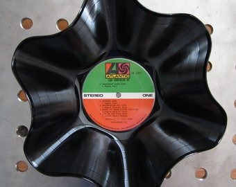 Led Zeppelin Genuine 33rpm Upcycled LP Record Bowl  on Atlantic Records