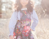 Magnolia apron pinafore - perfect finish for any outfit - floral print overdress for little girls