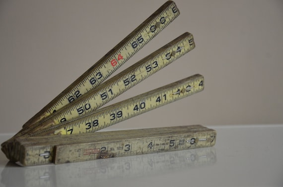 RESERVED.  Industrial Chic. Vintage Ridgid Folding Ruler. No 1619. Swiss Made.