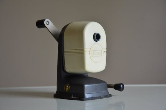 Vintage Sears Pencil Sharpener with Suction Attachment. Back to School.