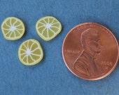Three Miniature Lemon Slices