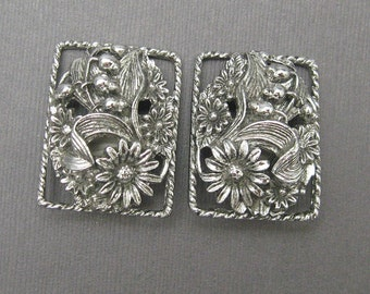 Vintage Earrings Large Floral Coventry Antique Garden