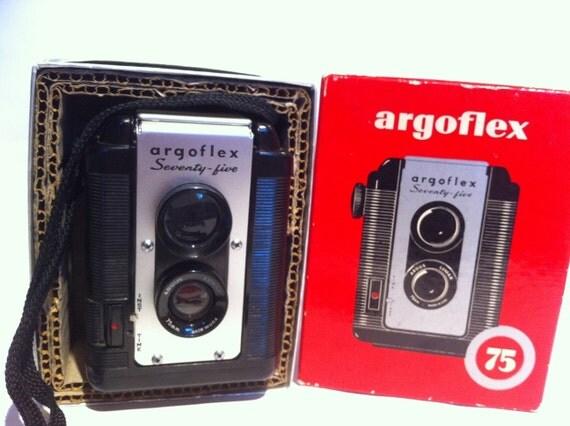Vintage Argoflex Seventy-five camera.  In original box.