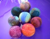 Two Needle Felted Catnip Ball Wool Cat Toy