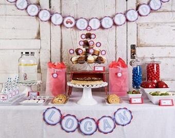 Cars Birthday Decorations, Car Banner, Car Theme HAPPY BIRTHDAY Banner, Car Birthday Party Decorations
