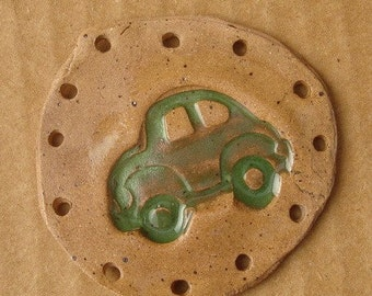 SALE VW Bug Beetle Car Pottery Base for Basketry