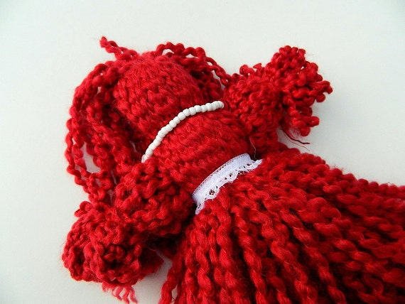 "Red Yarn Doll / Ju Ju Baby / Spirit Doll ""Miss Red"""