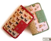Wallets sewing pattern with 27 pockets  -- PDF Files