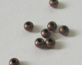 100 antique copper rondelle SPACER Beads - 3x2mm jewelry findings