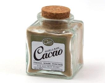 Cacao Face Mask, Cocoa face mask, Raw cacao mask, Chocolate face mask, Organic, Raw, Cacao, Aloe