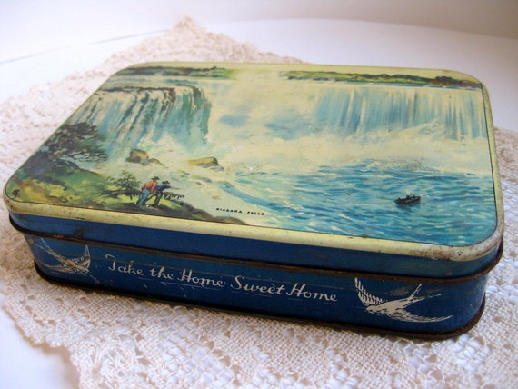 Vintage candy tin Blue Bird Toffee