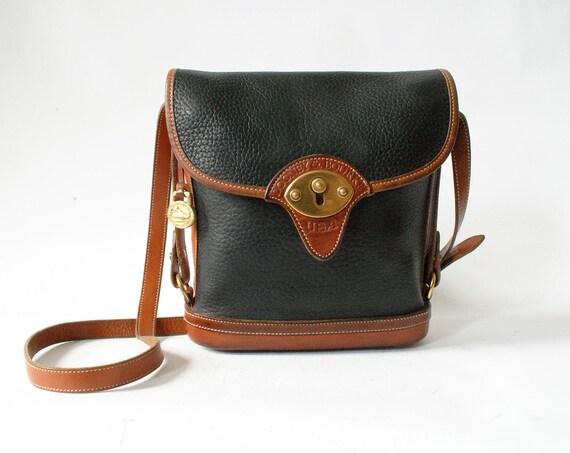 Vintage Dooney and Bourke Bucket Bag Black and Brown Leather