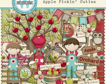 Digital Scrapbook Apple Pickin' Cuties